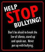 Help stop bullying sign