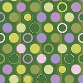 Ornaments polka dot on green background