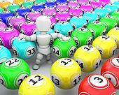 white man with bingo balls