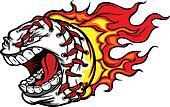 Flaming Baseball or Softball Scream