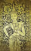 thai angel painting on church wall