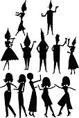 party silhouettes