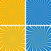 vector retro background set of starburst