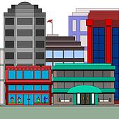 Building with a dress store