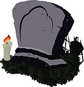 Abstract Grave - Vector Illustration