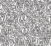 Floral seamless line vector wallpaper