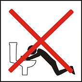 Incorrect ways of using the public toilets