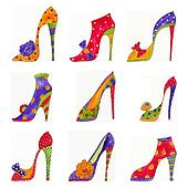 Fashion shoes pattern