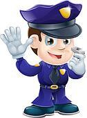 Policeman character cartoon illustr