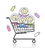 Children in basket