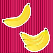 Banana with white border