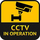 CCTV symbol, label security camera