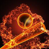Baseball in fire