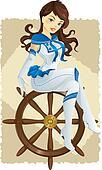 Sexy pin up sailor girl