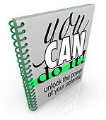 Self-Help You Can Do It Book Positive Attitude Confidence