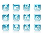 home and house insurance icons