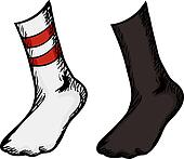Socks With Feet In Them
