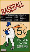 retro baseball card