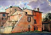 Urban scenic of Trastevere