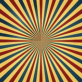 Circus Colors Sunburst Background