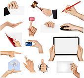 Set of hands