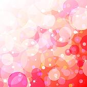 Bubbly fun over gradient background