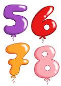 you number to toy balloon - group 2