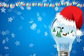 Merry christmas with santa blub