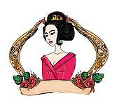 beautiful geisha girl