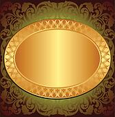 gold end brown background
