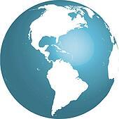 3d globe america