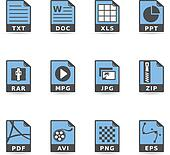 Duotone Icons - File Formats