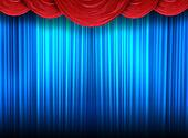 Modern curtains of a theater