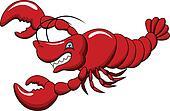 funny lobster cartoon