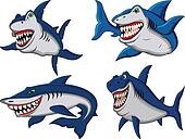 shark cartoon collection