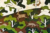 Camouflage pattern wild version