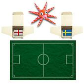 Squid Football with the flag Sweden and England