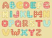 Vintage quilt alphabet.