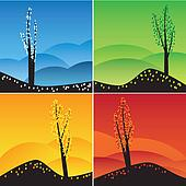 Four seasons set.