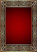 gold(en) frame with band of the vegetable pattern
