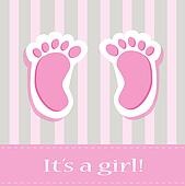 It's A Girl Baby Feet