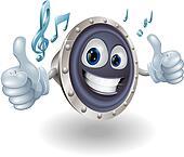 Music audio speaker character