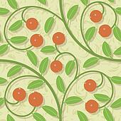 seamless cranberries stylized background pattern