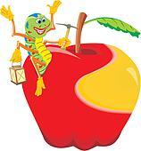 happy worm - mature apple
