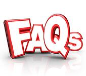 FAQs Frequently Asked Questions 3D Letters Acronym