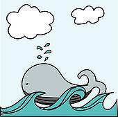 cute whale vector