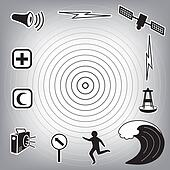 Tsunami Icons and Symbols