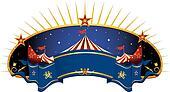 circus blue banner