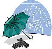 umbrella and gloves