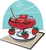 strawberries jam